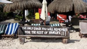... Proprio vero! Dalla spiaggia di Tulum...